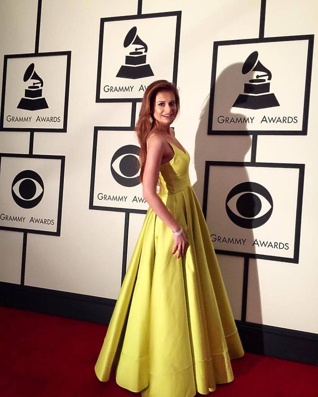 Ola Gintrowska w żółtej sukni na Grammy