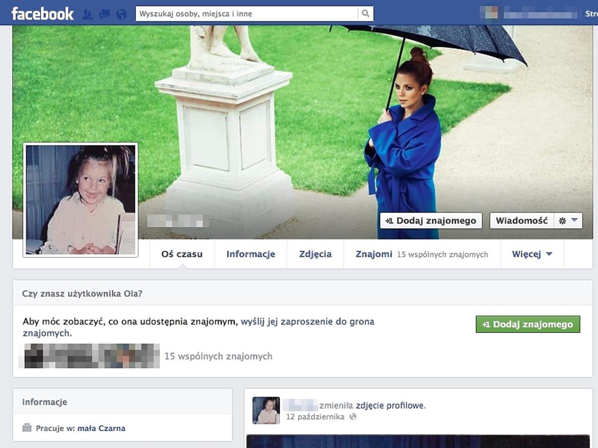 Ola Kwaśniewska na Facebooku. Ola Kwaśniewska w dzieciństwie