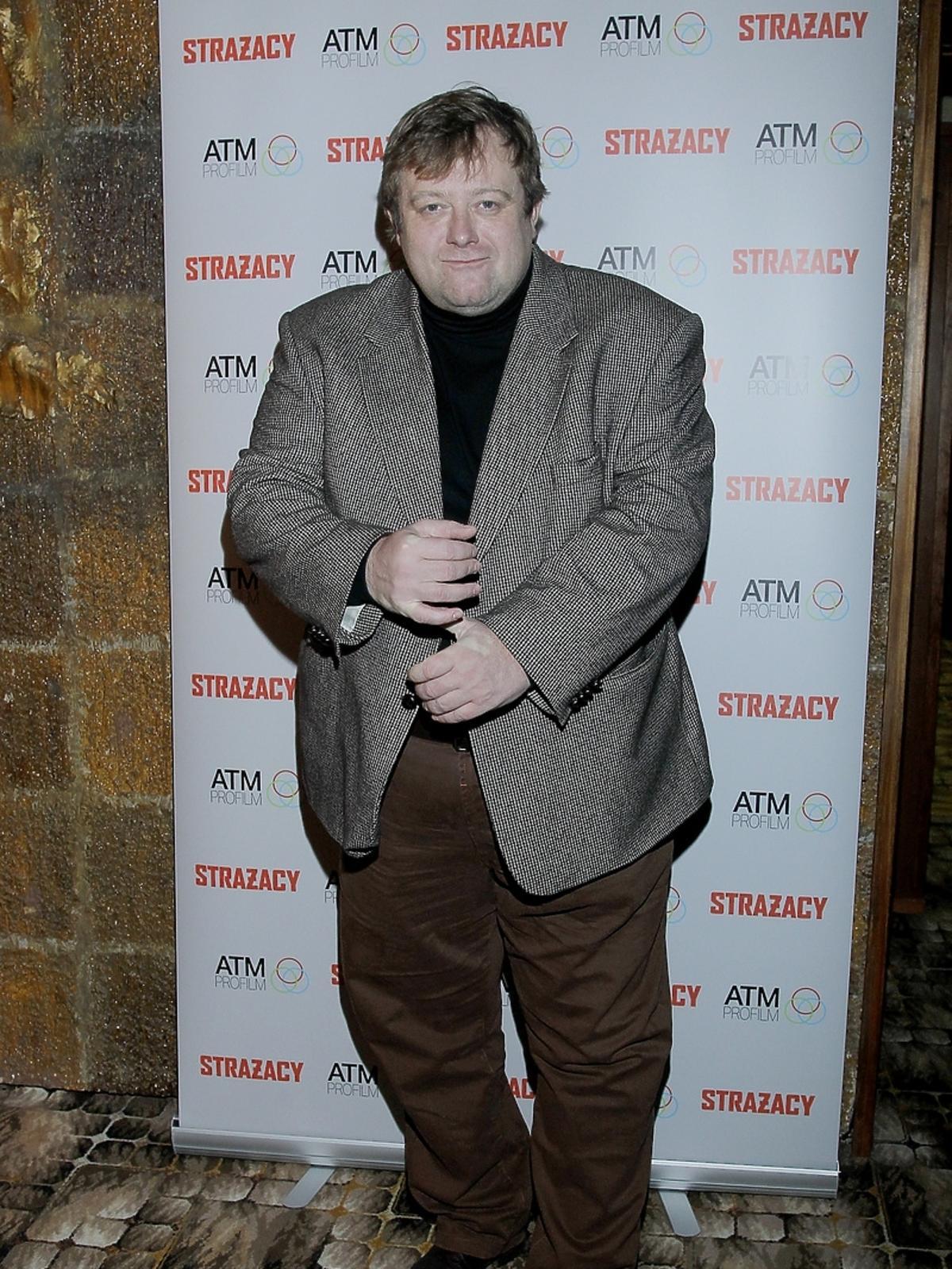 Olaf Lubaszenko na bankiecie z okazji zakończenia zdjęć do serialu