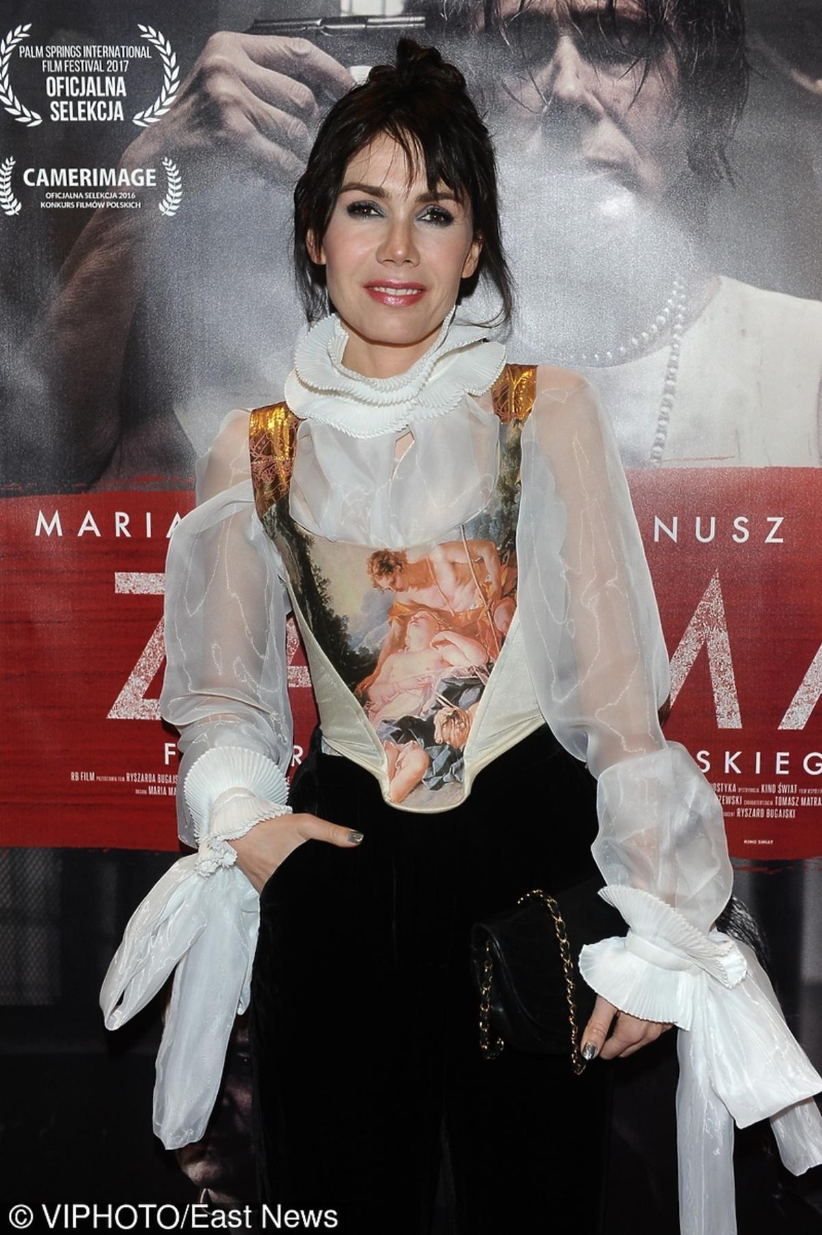 Olga Bołądź na premierze filmu