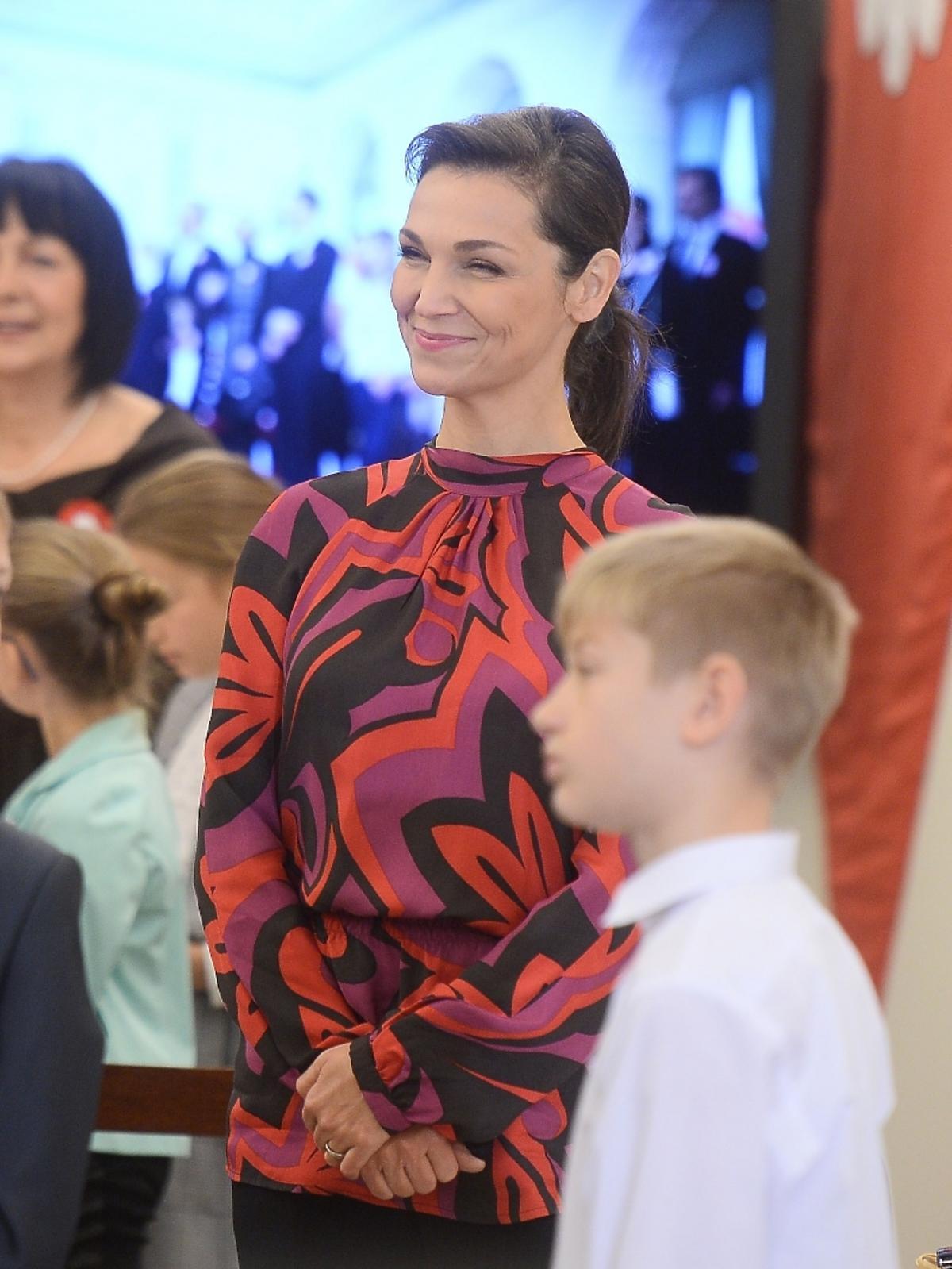 Olga Bończyk na spotkaniu z prezydentem RP