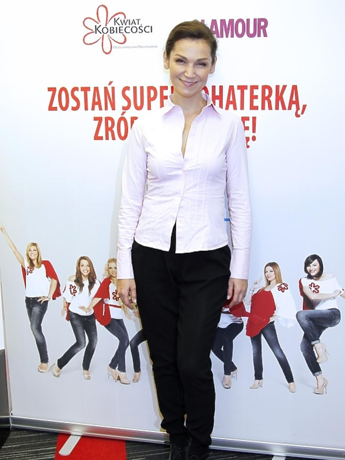 Olga Bończyk podczas spotkania Honeymoon dla Kwiatu Kobiecości