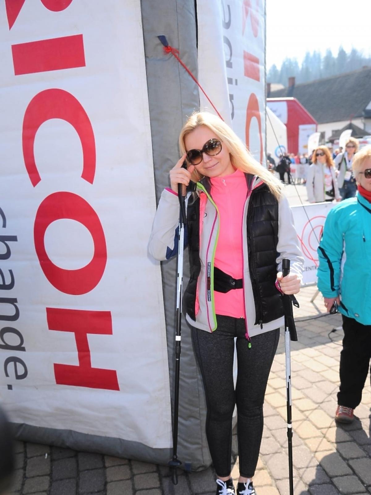 Olga Borys na charytatywnym biegu