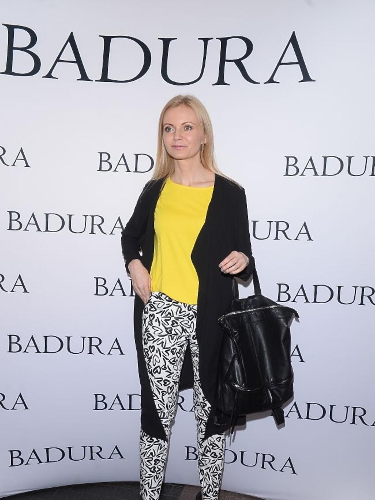 Olga Borys na prezentacji marki Badura