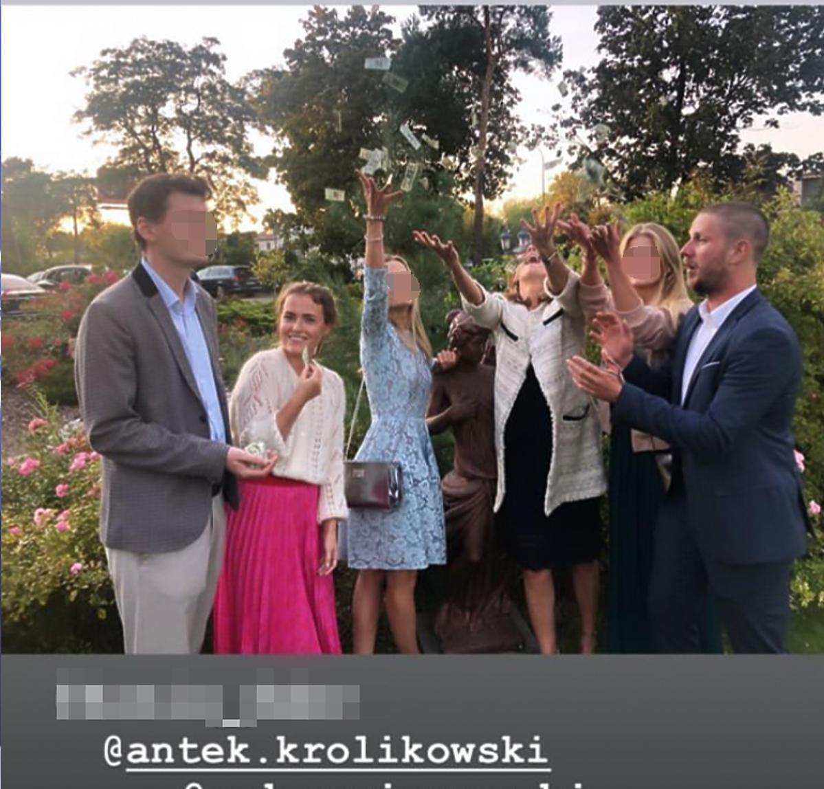 Olga Frycz i Antek Królikowski na weselu Sylwii Juszczak i Mikołaja Krawczyka