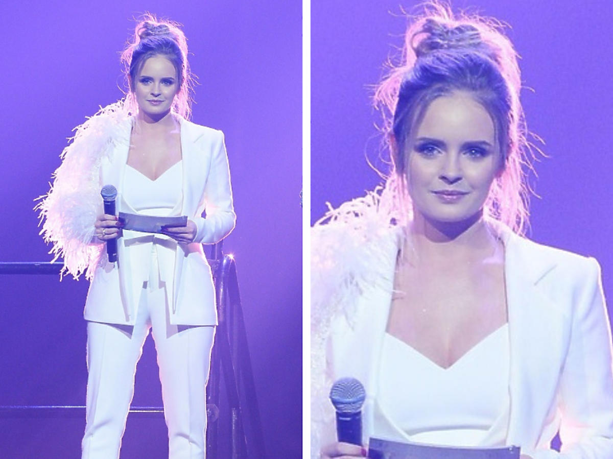 Olga Kalicka biały garnitur