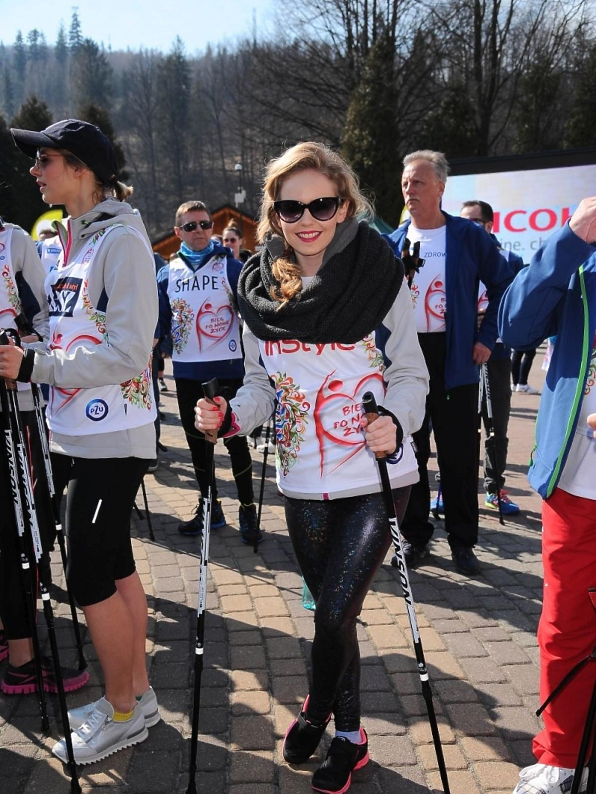Olga Kalicka na charytatywnym biegu