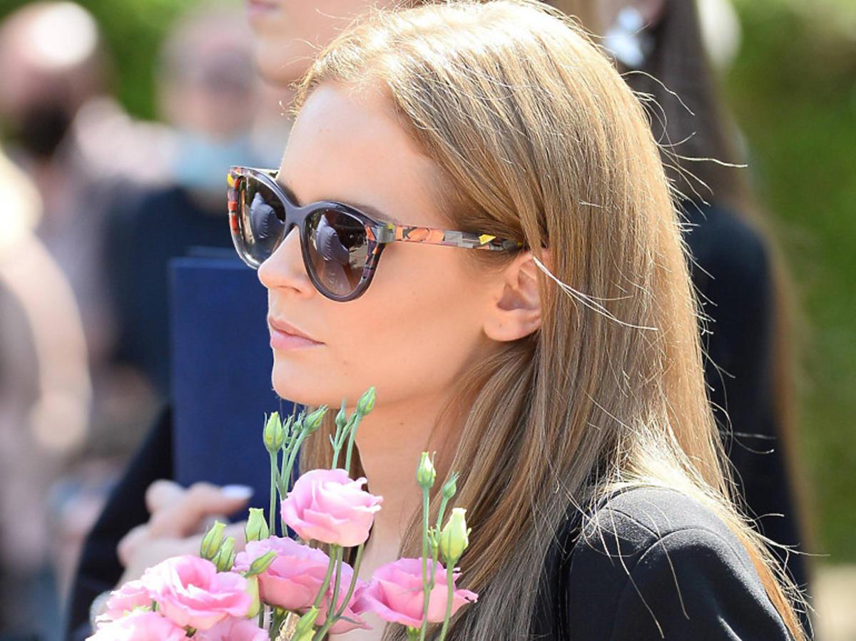 Olga Kalicka na pogrzebie Andrzeja Strzeleckiego