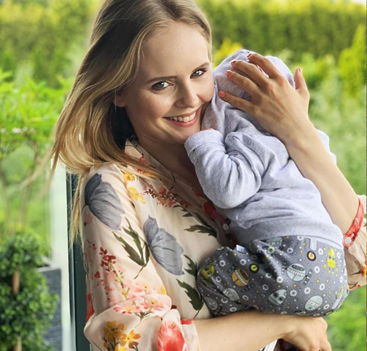 Olga Kalicka z synem