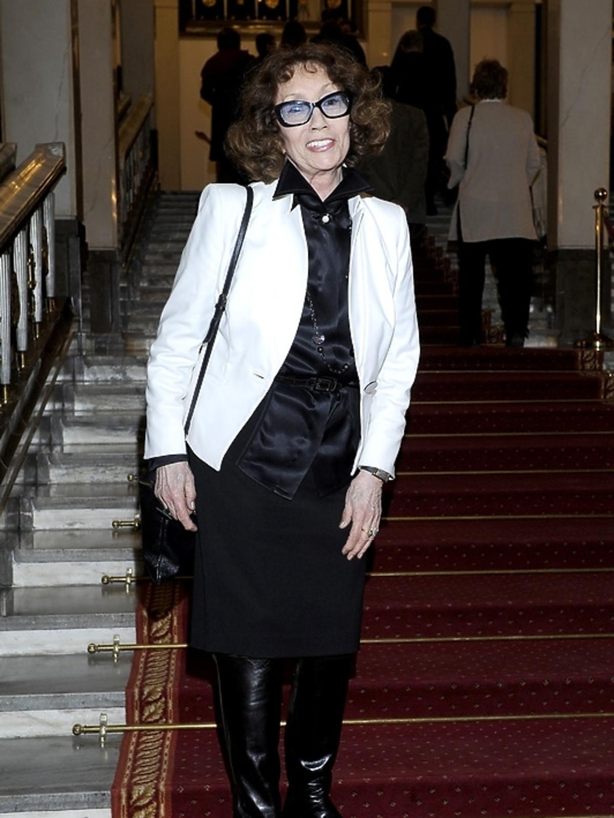 Olga Lipińska na premierze opery