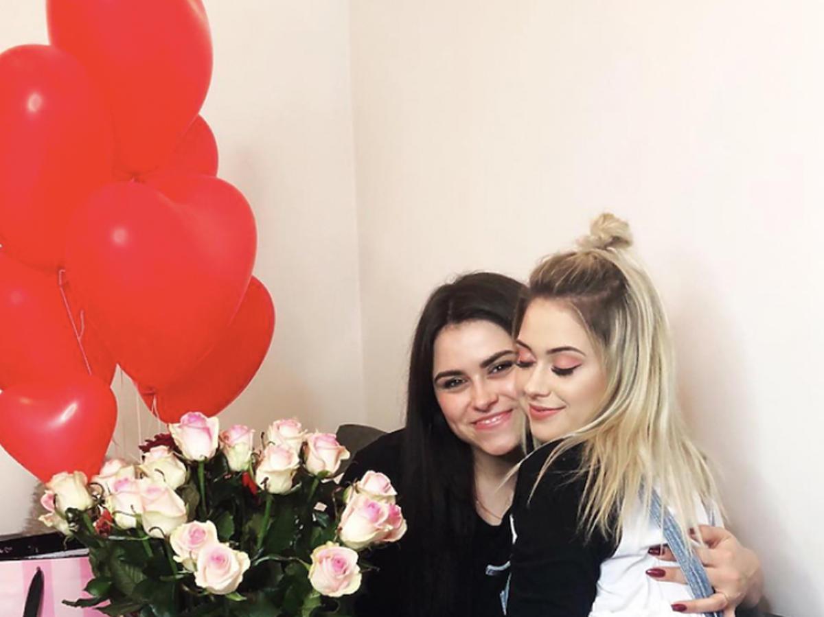 Olga Przybysz, siostra Sylwii Przybysz, Sylwia Przybysz razem na zdjęciu