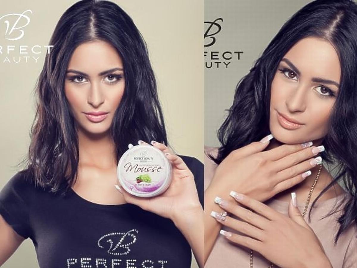 Oliwia Downar-Dukowicz w reklamie paznokci