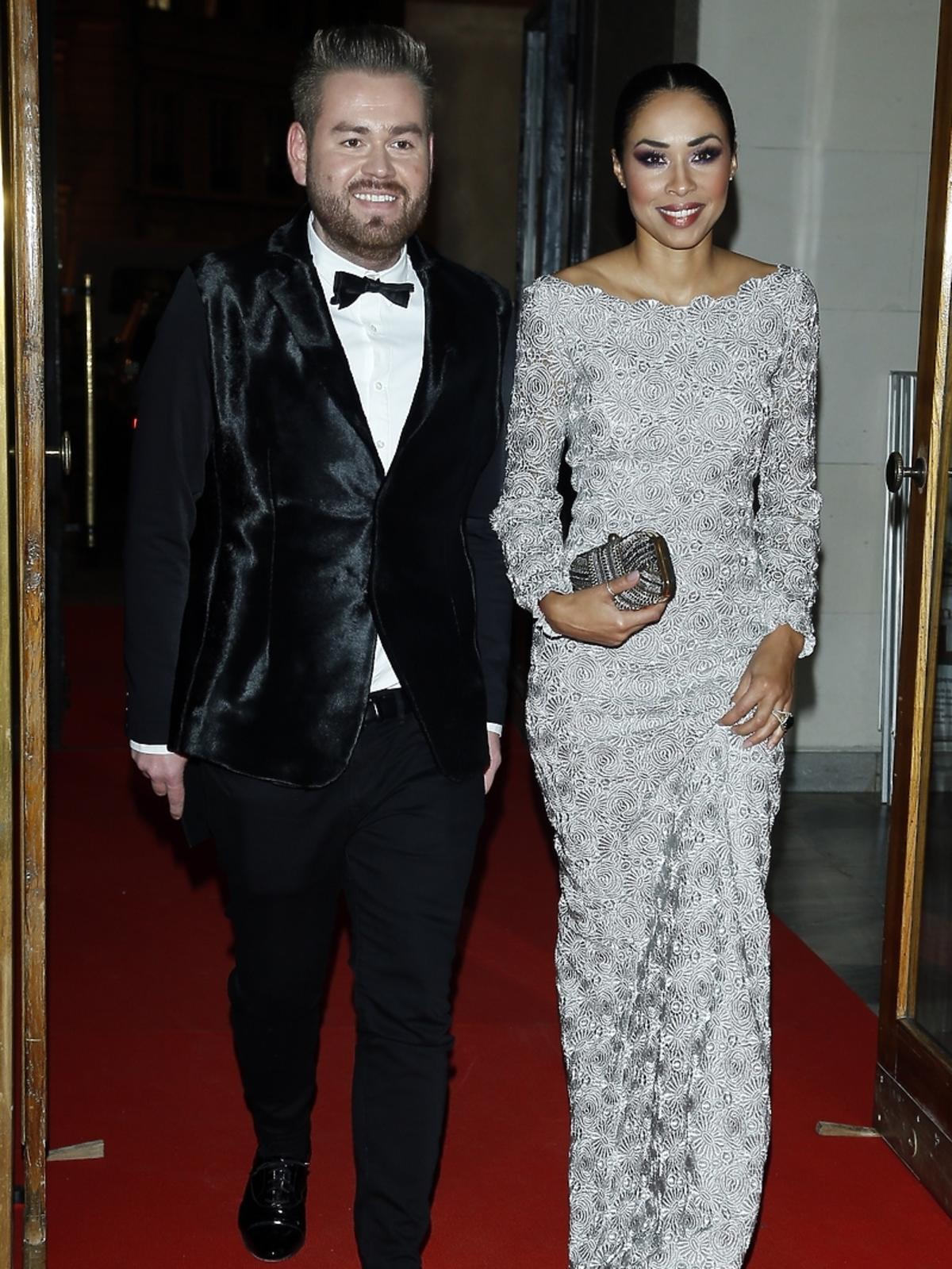 Omenaa Mensah i Tomasz Olejniczak na imprezie Flesz Fashion Night