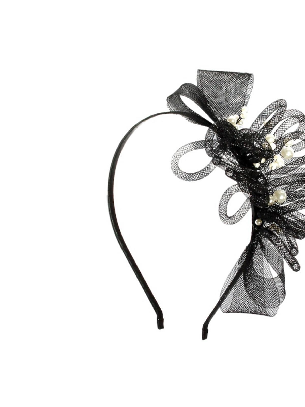 Opaska z siateczkowymi dekoracjami i perełkami Moliabal, 150 zł