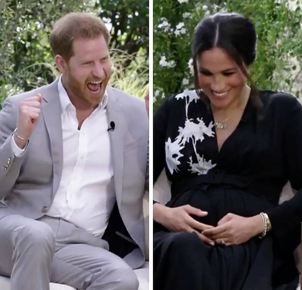 Oprah Winfrey zaliczyła zabawną wpadkę podczas wywiadu z Meghan Markle i księciem Harry'm