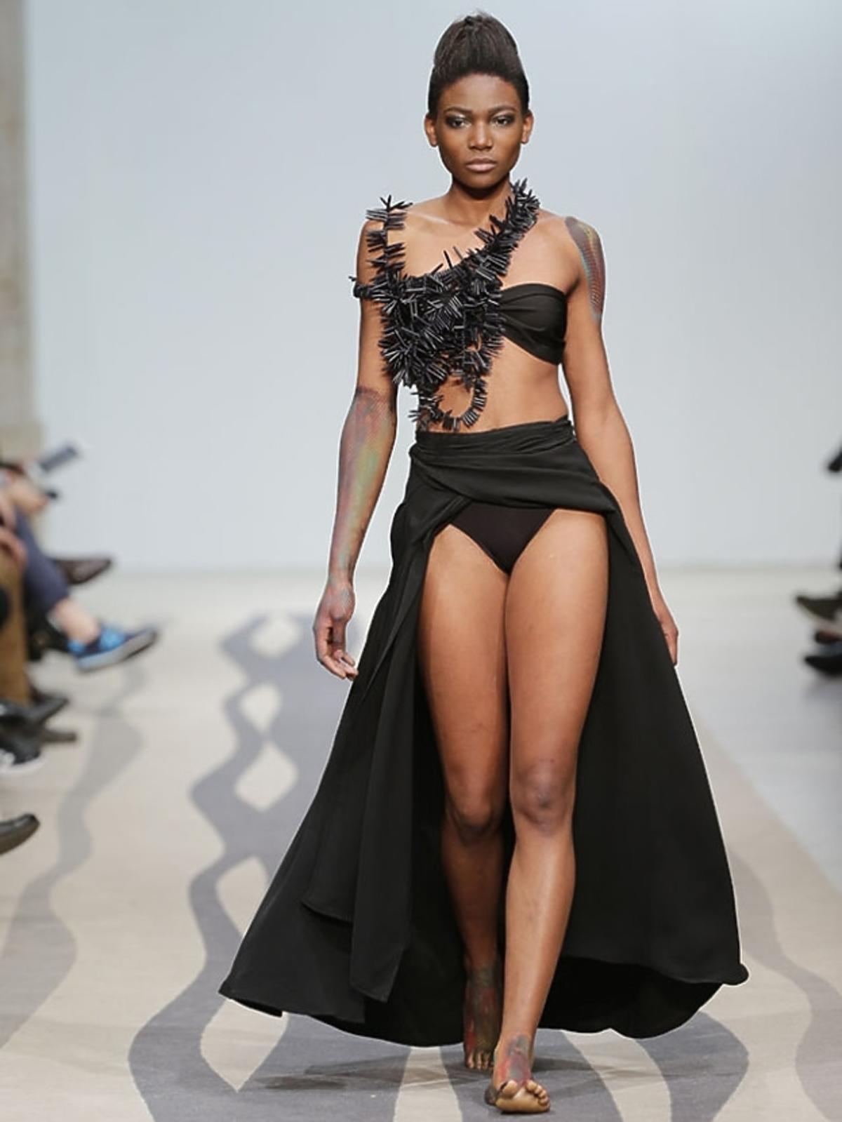 Osuenhe (Osi) Ugonoh podczas Fashion Week w Lizbonie