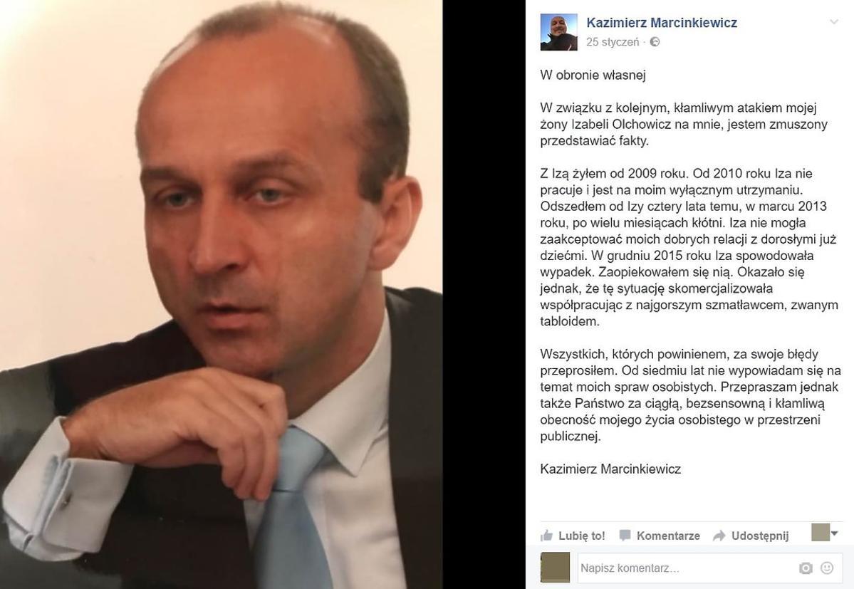 Oświadczenie Kazimierza Marcinkiewicza
