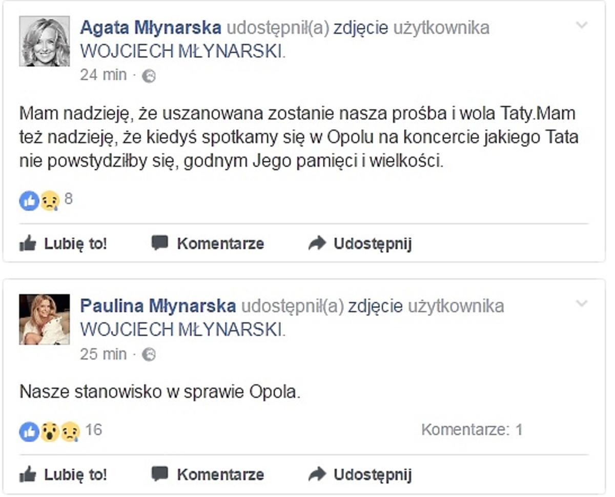 Oświadczenie w sprawie koncertu piosenek Wojciecha Młynarskiego w Opolu