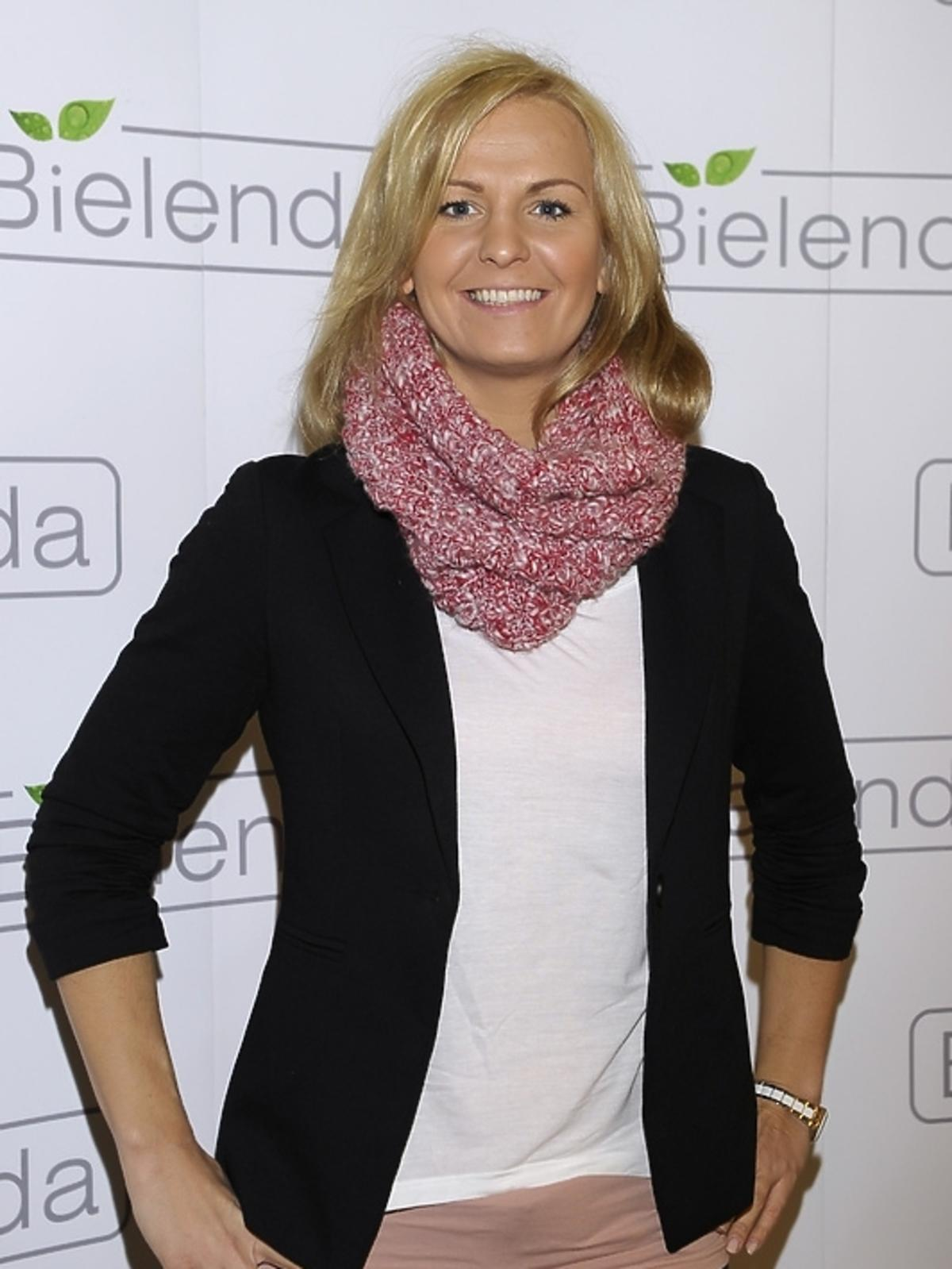 Otylia Jędrzejczak na prezentacji kosmetyków marki Bielenda