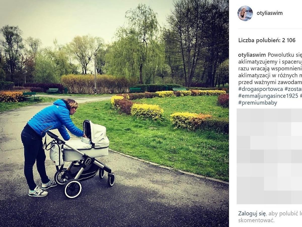 Otylia Jędrzejczak pokazała wózek córki
