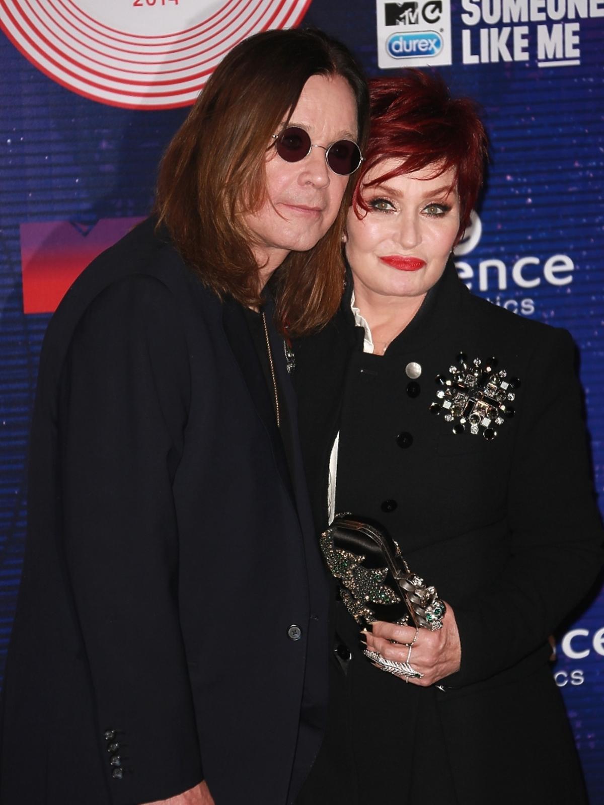 Ozzy i Sharon Osbourne na MTV EMA 2014 w Glasgow