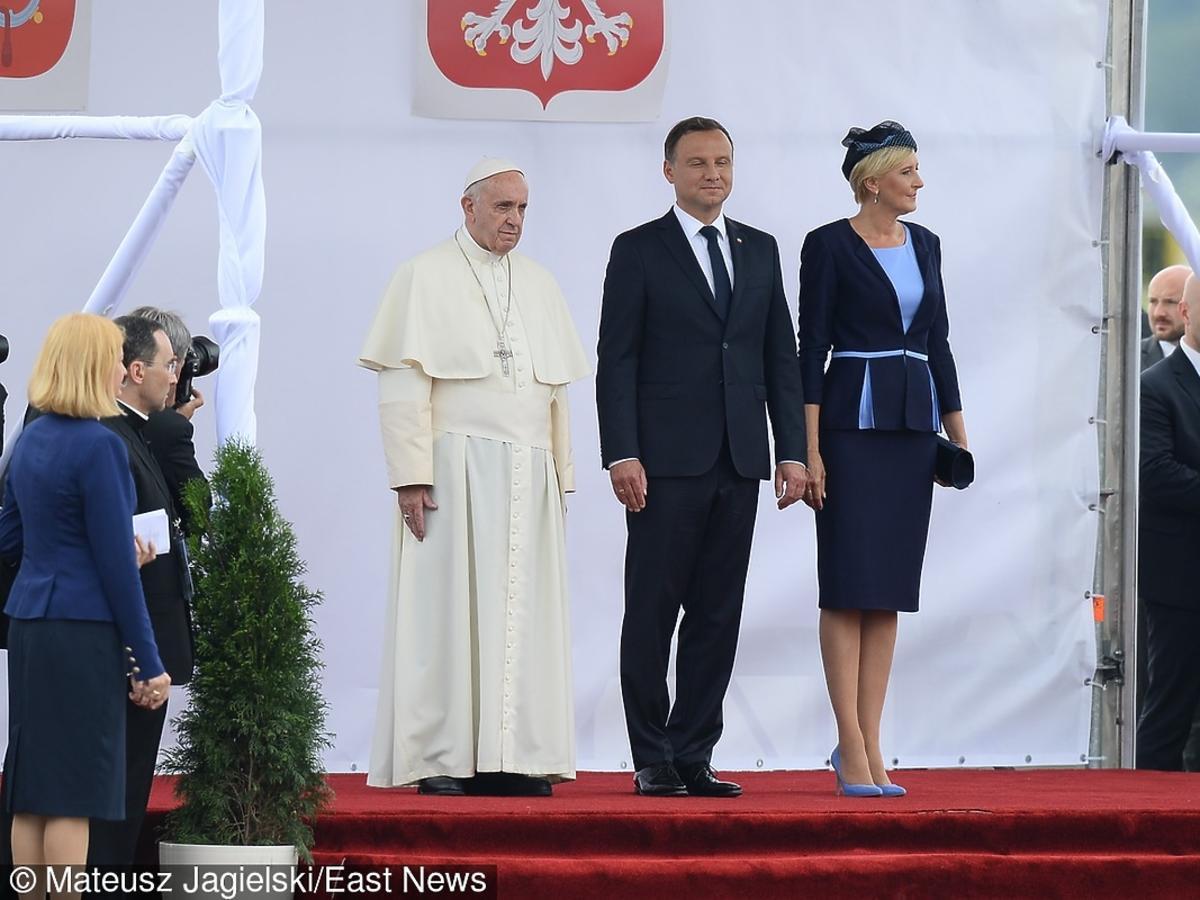Papież Franciszek z parą prezydencką