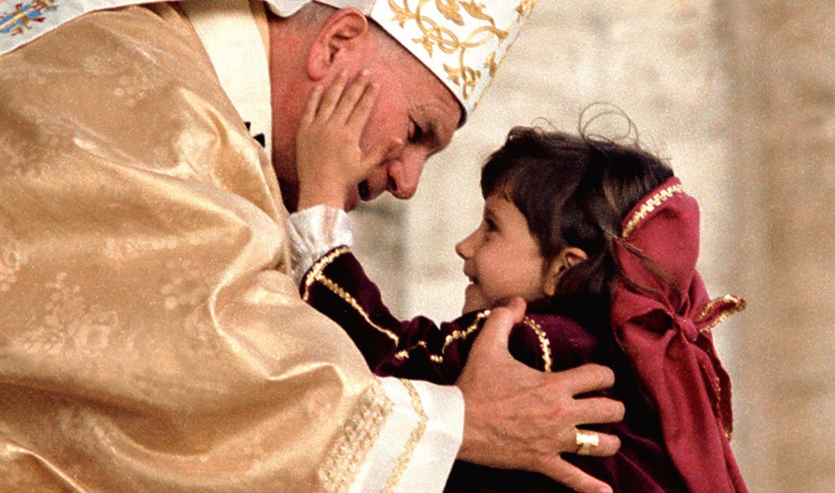 Papież Jan Paweł II i dziecko