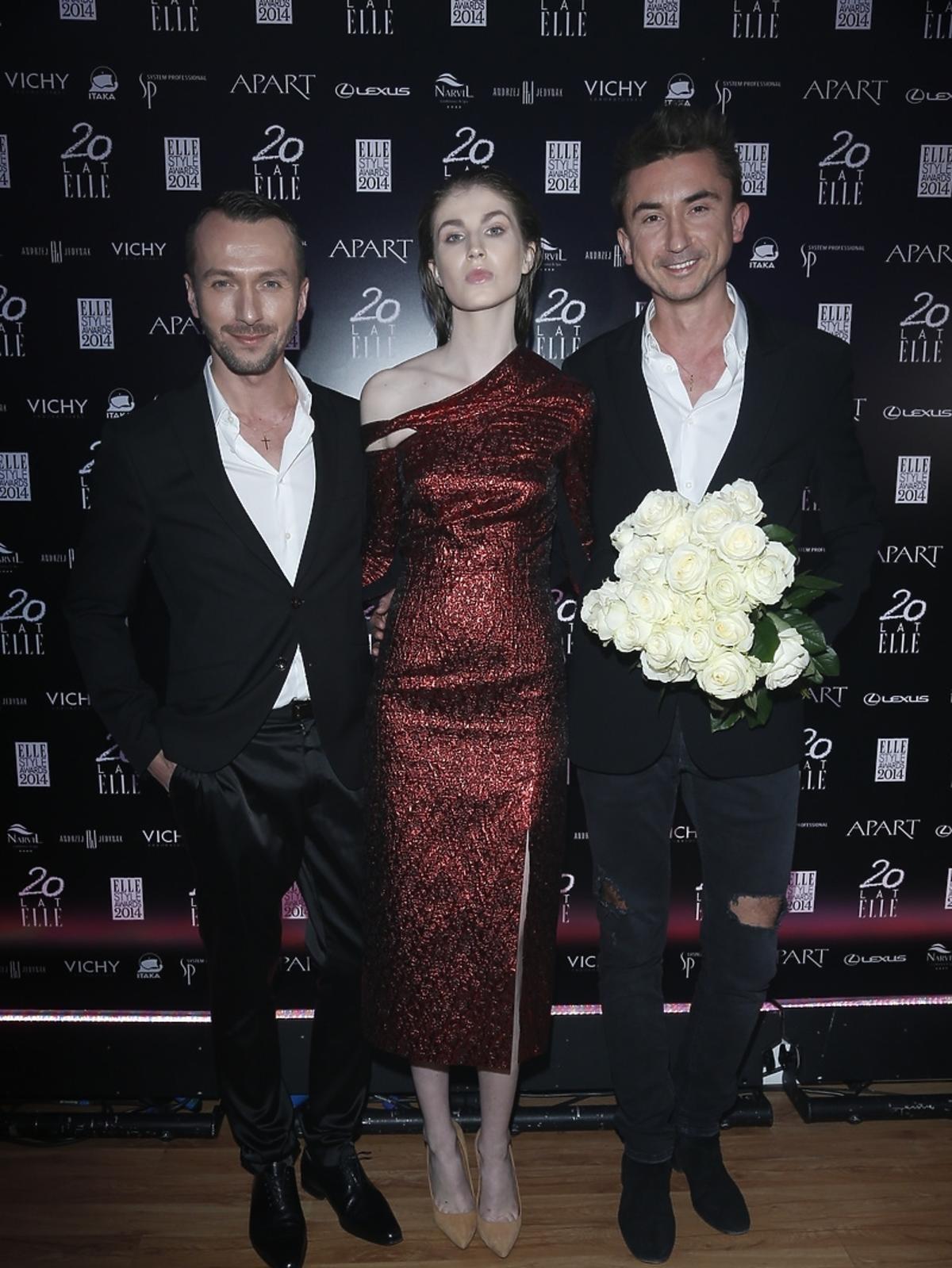 Paprocki i Brzozowski na Elle Style Awards 2014