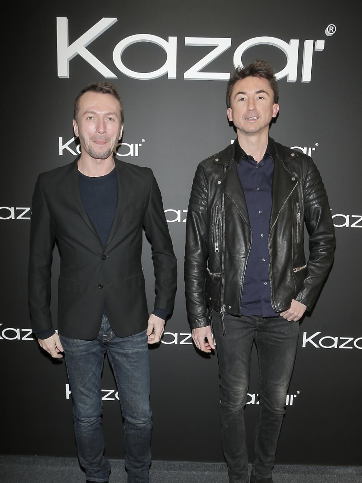 Paprocki i Brzozowski na prezentacji butów Kazar