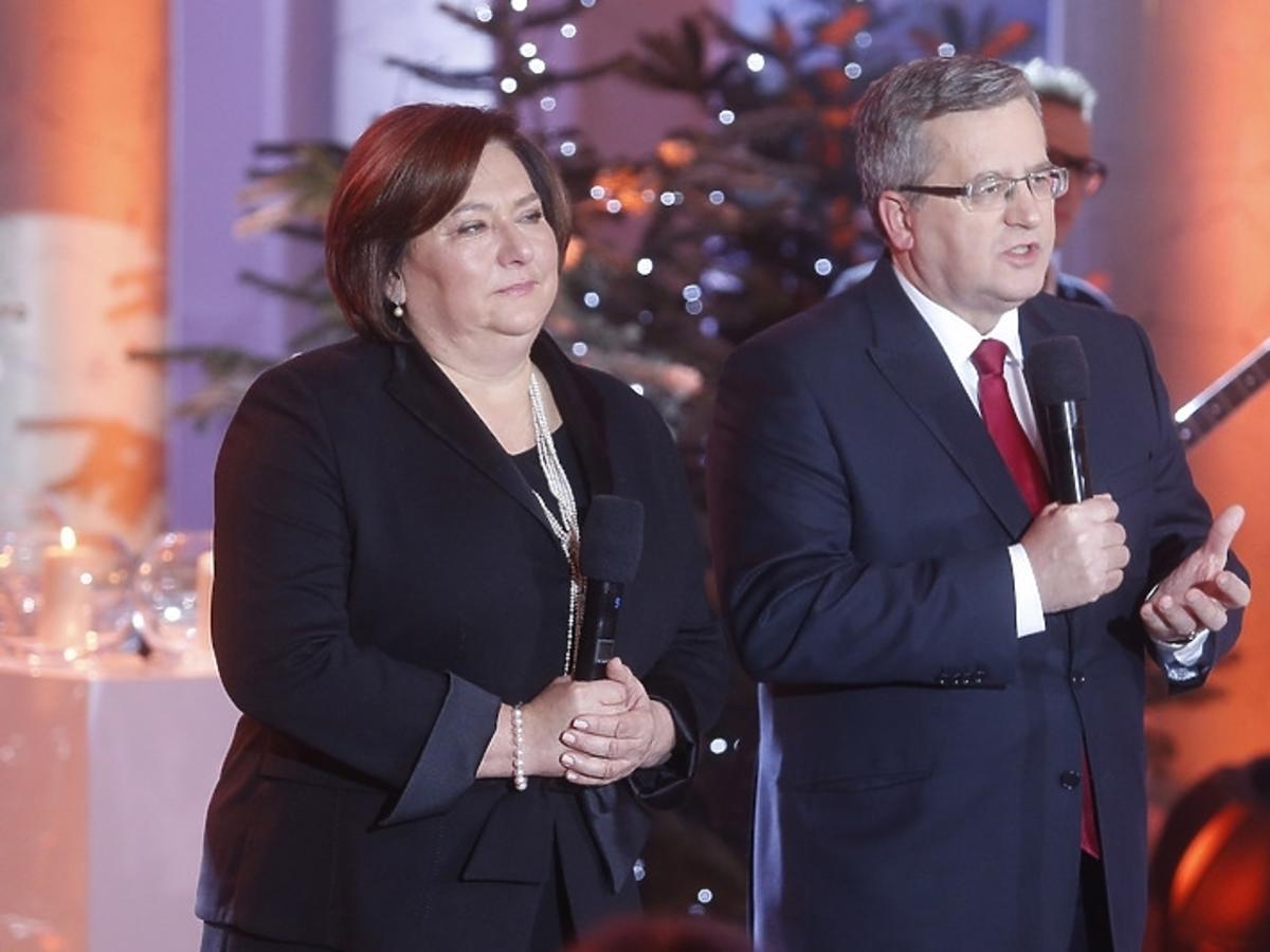 Para prezydencka podczas świątecznego koncertu w Pałacu Prezydenckim