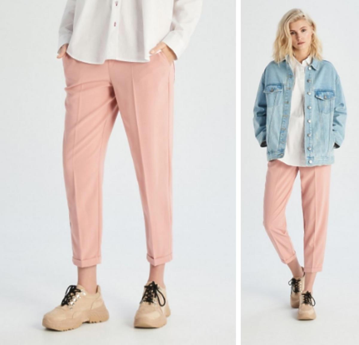 pastelowe różowe spodnie z Sinsey