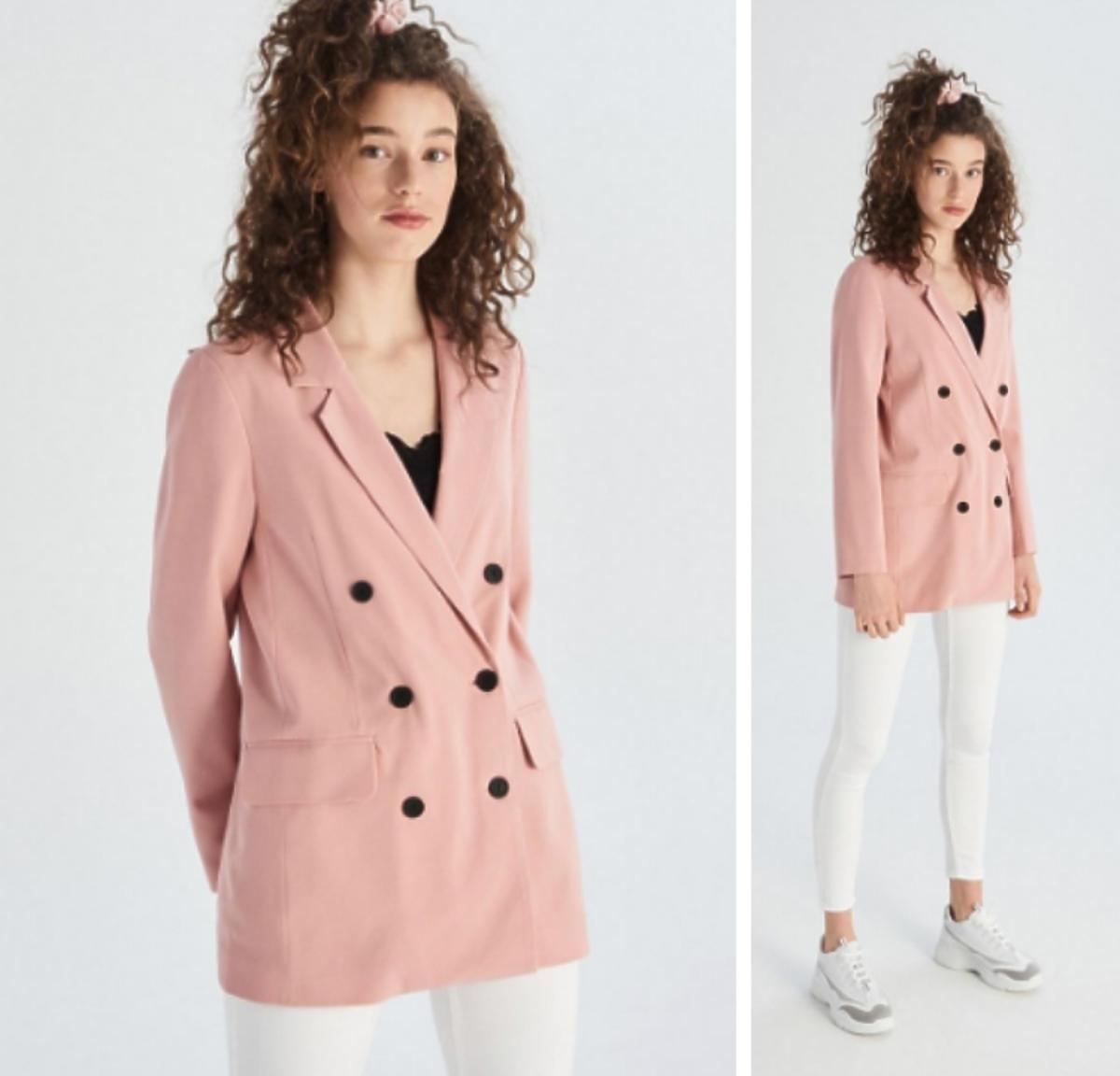 pastelowy różowa marynarka Sinsay