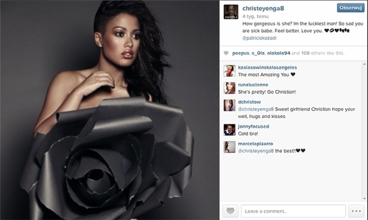 Patricia Kazadi i jej facet na Instagramie