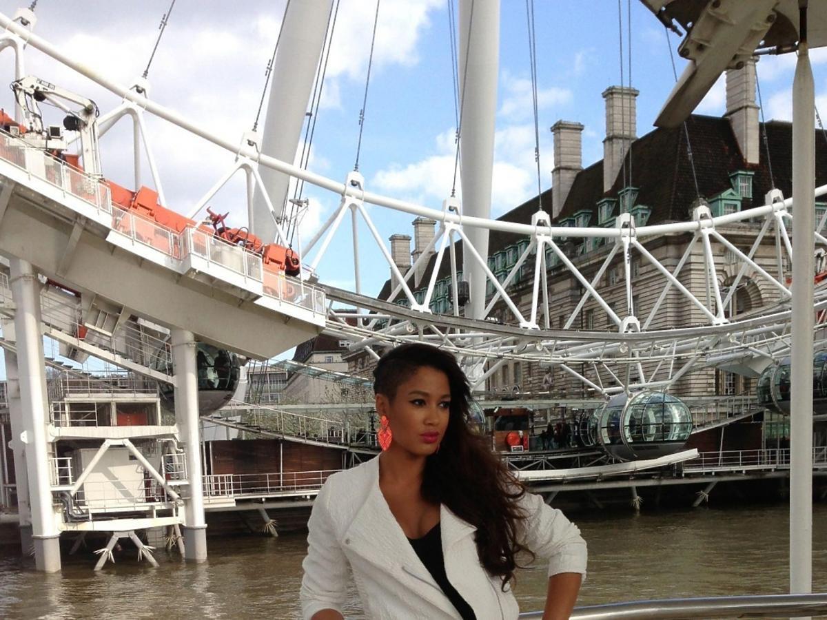 Patricia Kazadi na majówce w Londynie