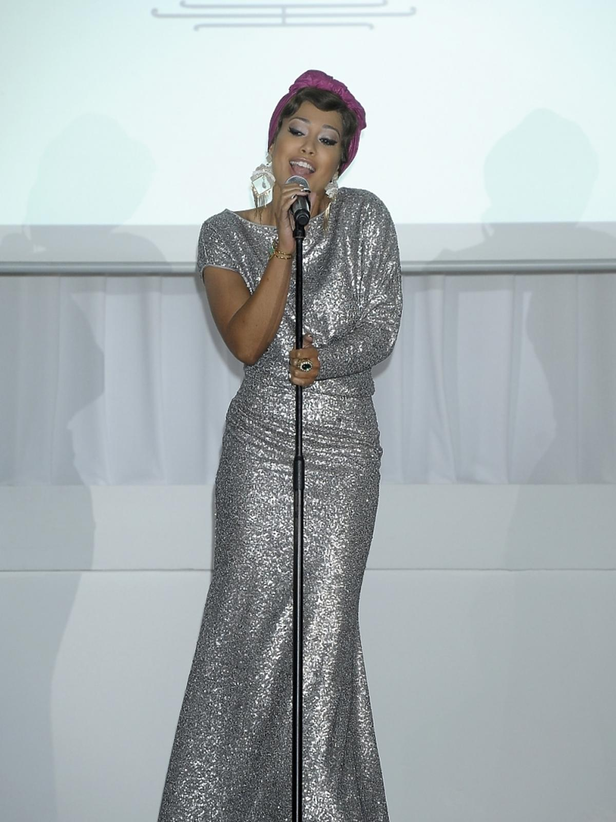 Patricia Kazadi na prezentacji nowego serialu TVP1
