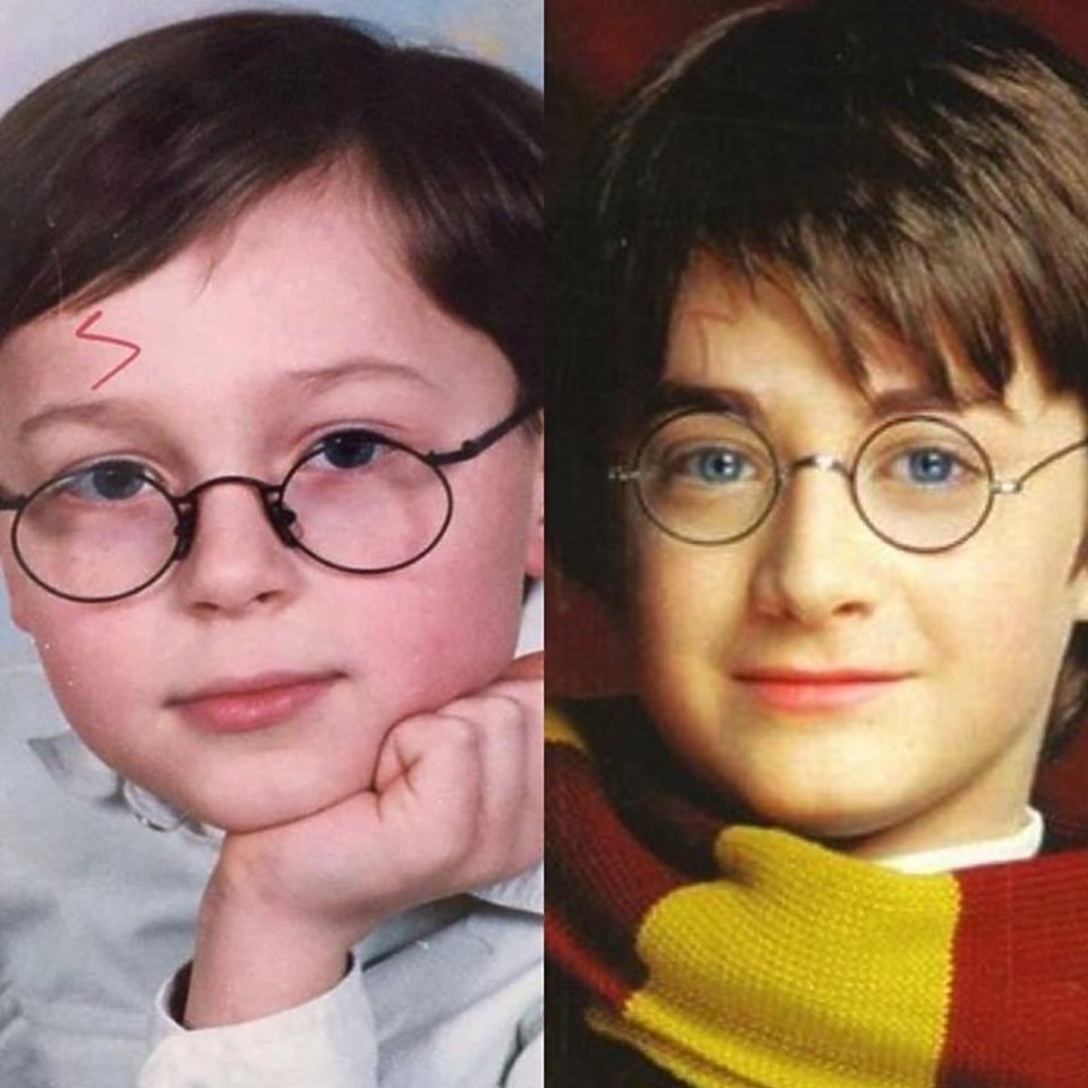 Patryk Pniewski jak Harry Potter w szkole