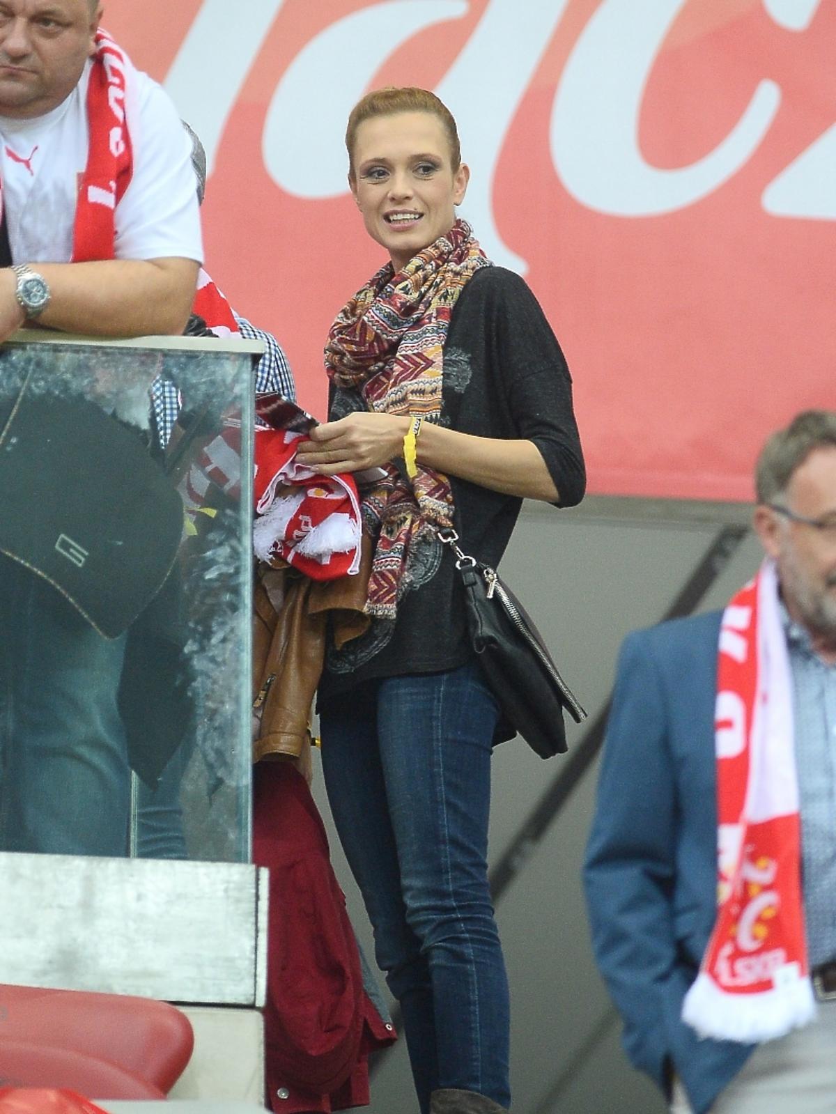 Paulina Chylewska na meczu Polska - Niemcy