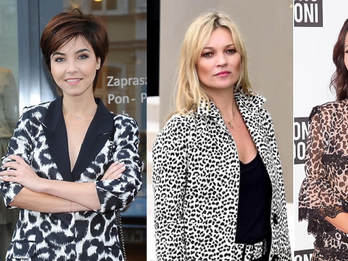 Paulina Drażba, Kate Moss, Justyna Steczkowska w cętkach
