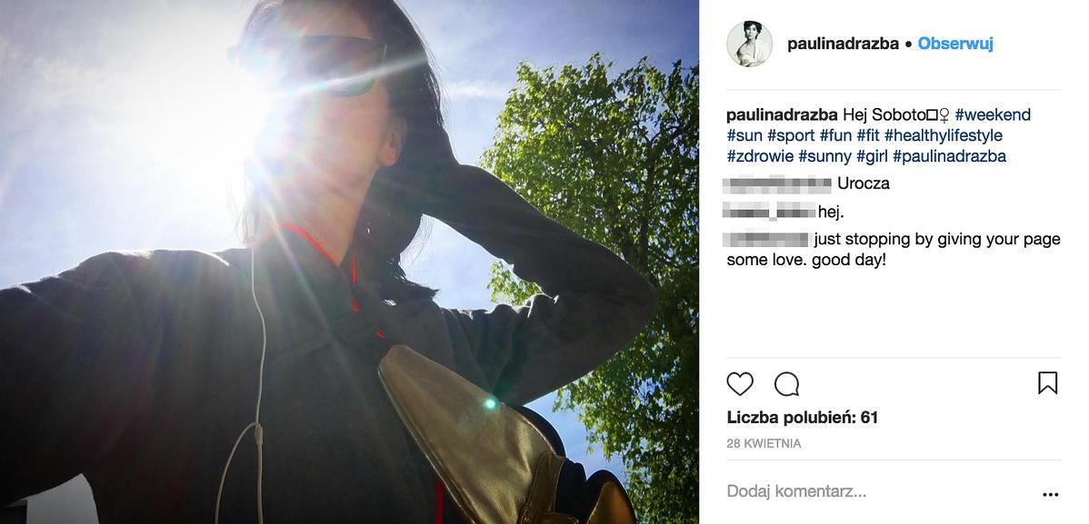 Paulina Drażba na Instagramie