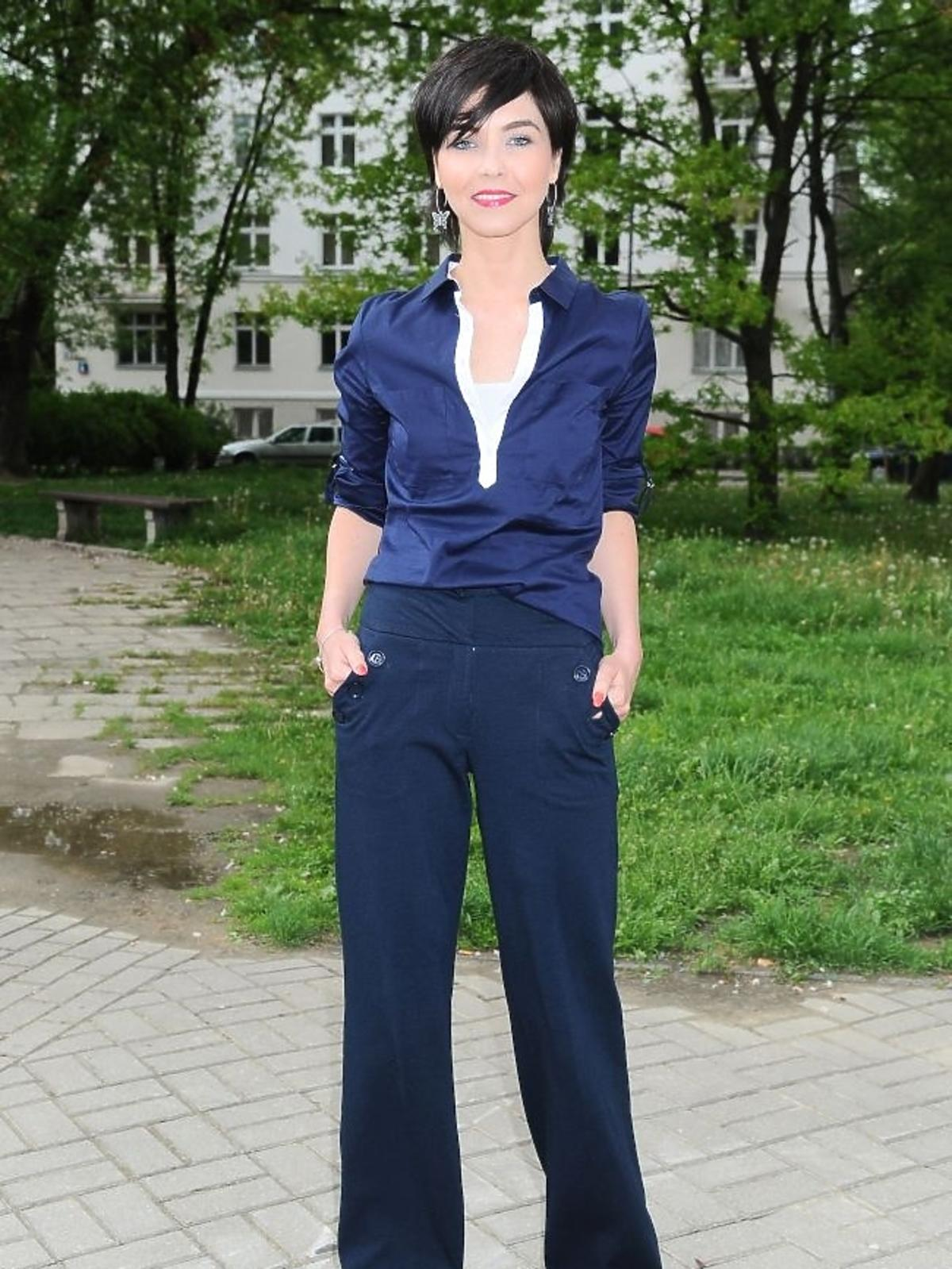 Paulina Drażba na premierze spektaklu Zwariowana terapia
