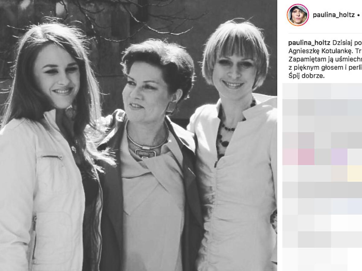 Paulina Holtz i Agnieszka Kotulanka na planie Klanu