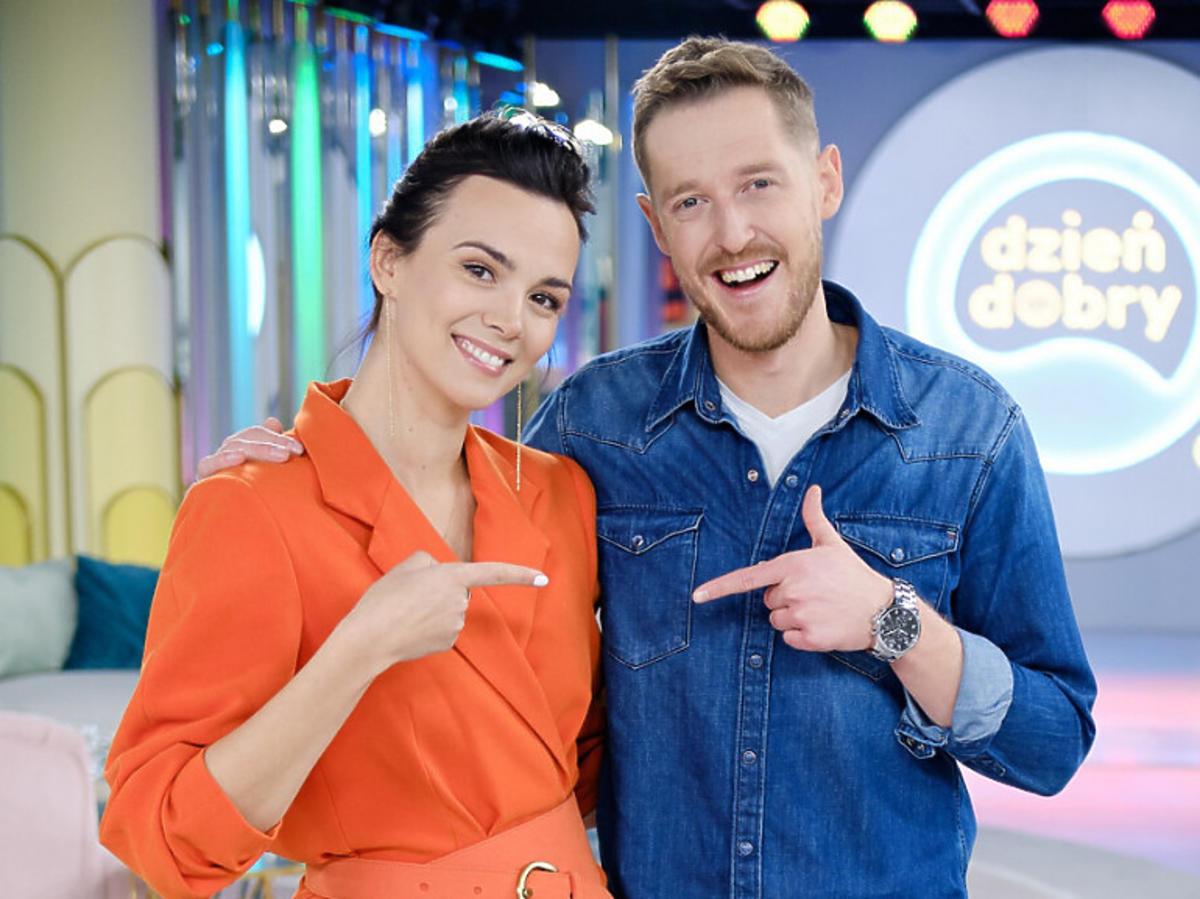 Paulina Krupińska i Damian Michałowski w Dzień Dobry TVN