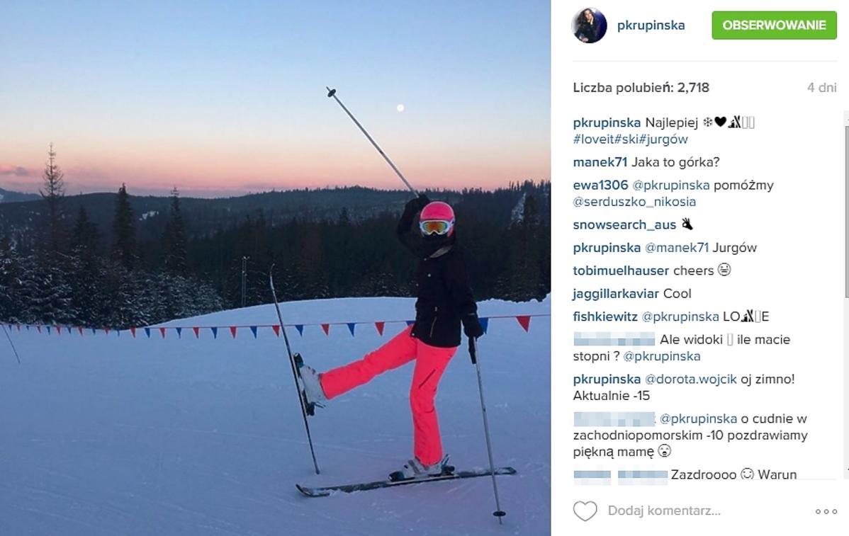Paulina Krupińska na nartach