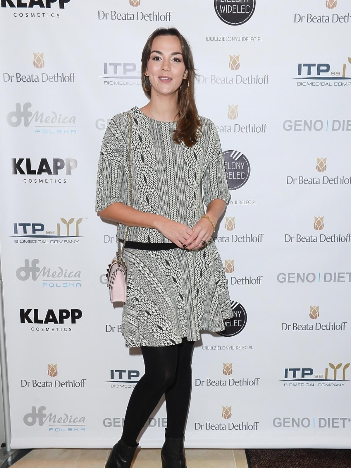 Paulina Krupińska na otwarciu kliniki Anti-Aging