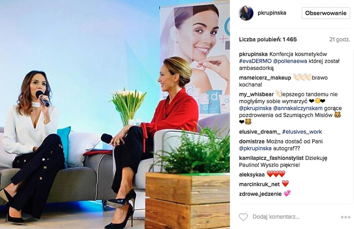 Paulina Krupińska na spotkaniu z Anną Kalczyńską