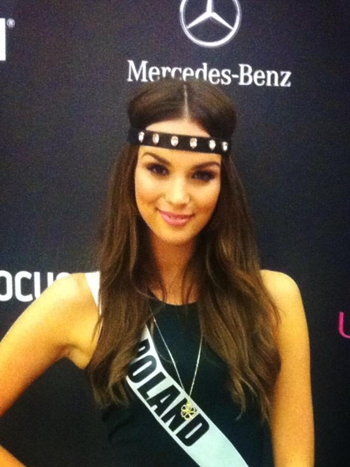 Paulina Krupińska przed finałem Miss Universe 2013