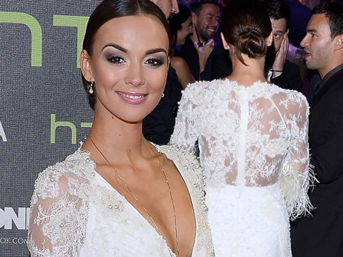 Paulina Krupińska z facetem na Flesz Fashion Night