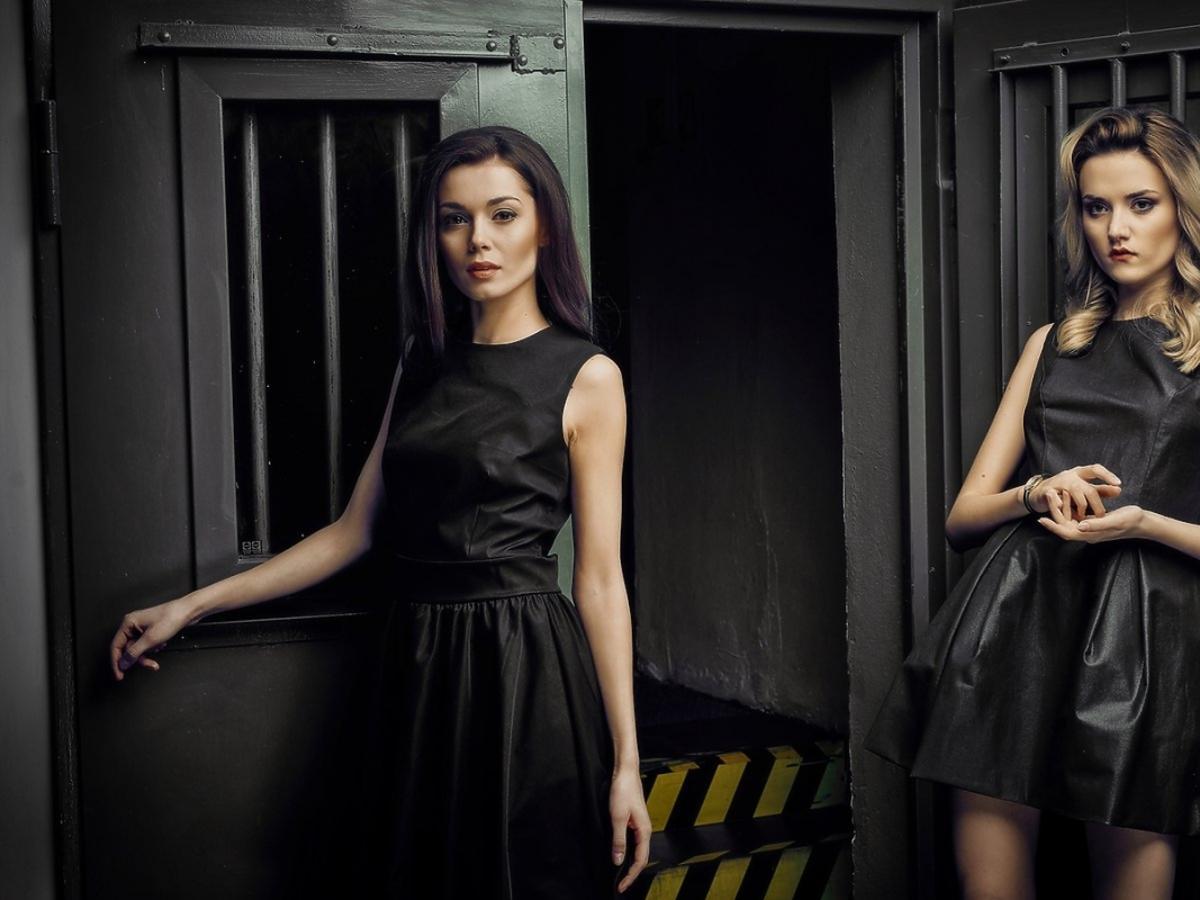 Paulina Papierska w czarnej sukience