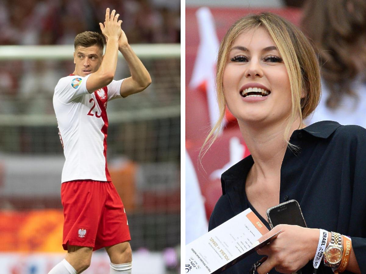 Paulina Piątek na meczu Polska- Izrael