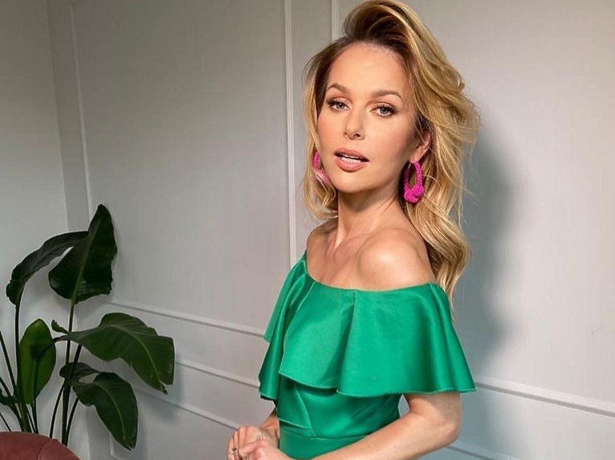 Paulina Sekut w zielonej sukience